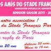 Adhésion aux Amis- saison 2017-2018