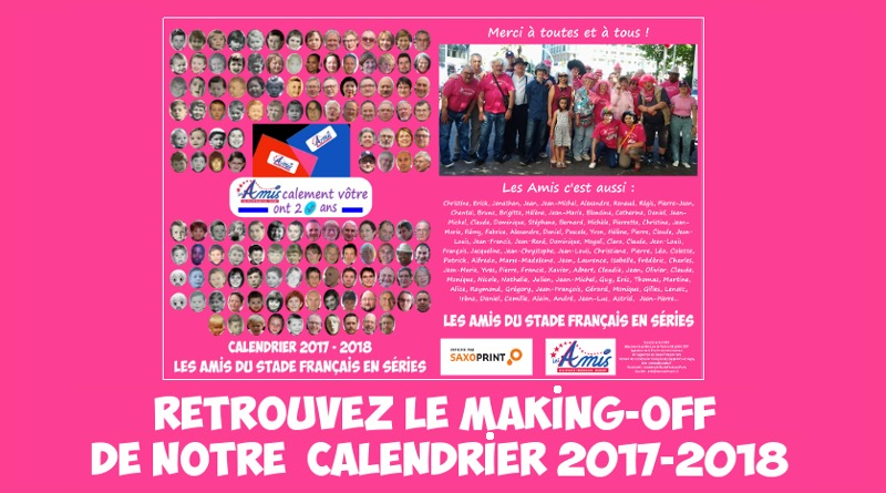 Making-off calendrier des Amis