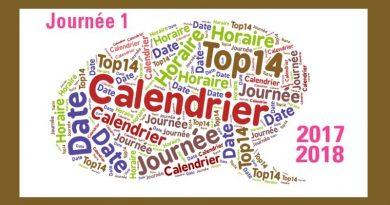 Programme journée 1 et 2 du Top14