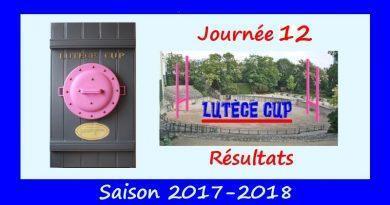 J12 Lutèce Cup 2017-2018 – Résultats