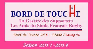 Bord de Touche 243 – Stade / Racing92