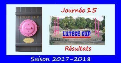 J15 Lutèce Cup 2017-2018 – Résultats
