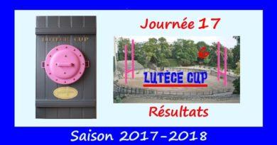 J17 Lutèce Cup 2017-2018 – Résultats