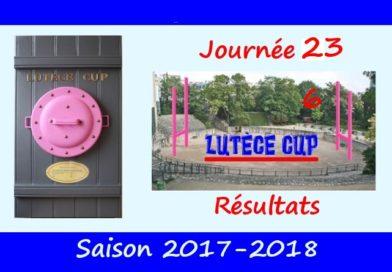J23 Lutèce Cup 2017-2018 – Résultats