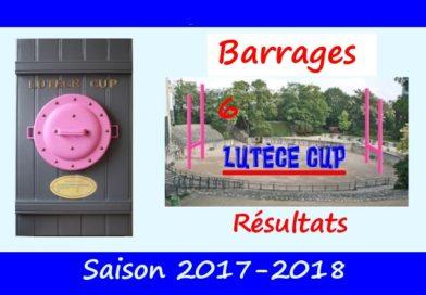 Barrages Lutèce Cup 2017-2018 – Résultats