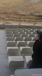 Le stade vue du bloc des Amis