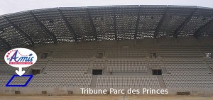 La tribune Parc des Princes de face