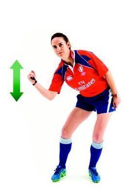 Les gestes de l'arbitre (5) - La mêlée
