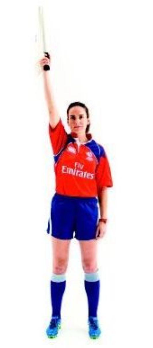 Les gestes de l'arbitre (10) - La touche