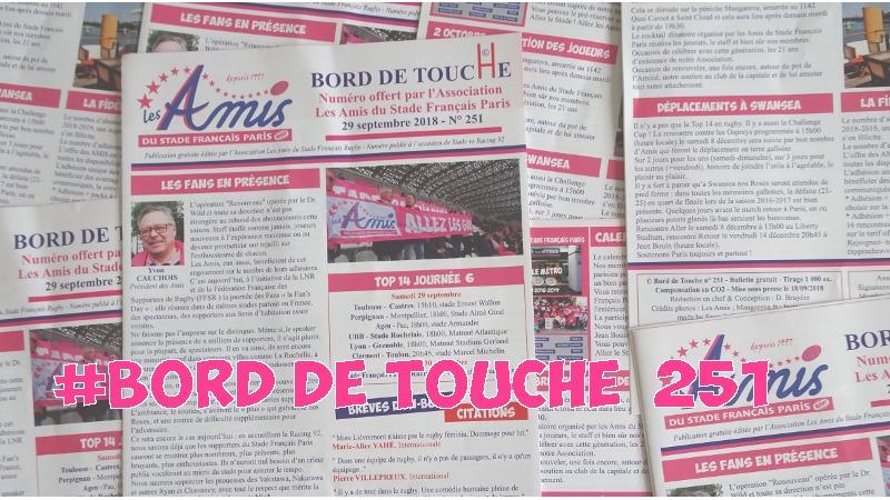 Bord de Touche 251 - Stade / Racing 92