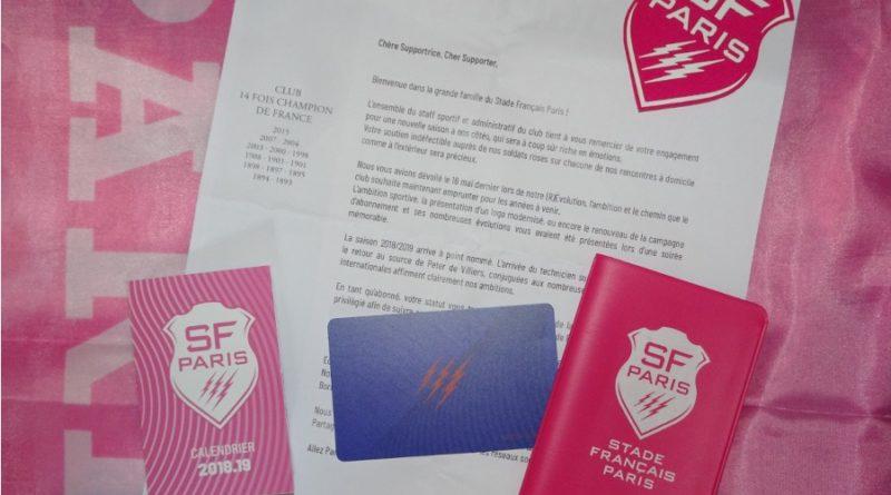 Nécessaire pour les passionné(e)s de rugby et du Stade Français Paris