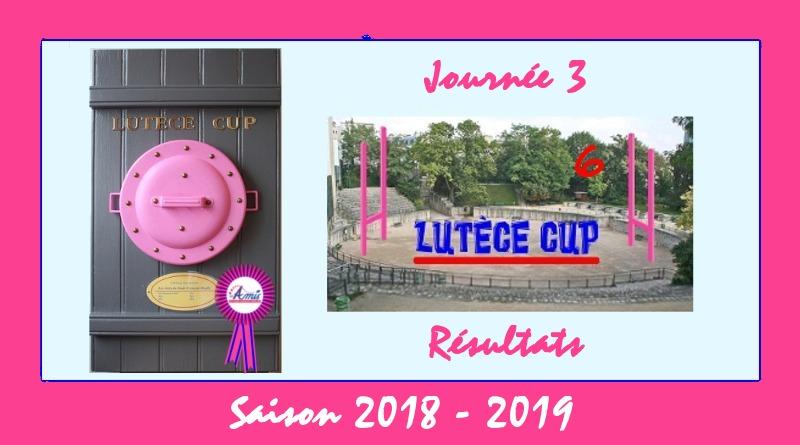 J3 Lutèce Cup 2018-2019 - Résultats