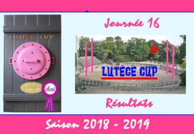J16 Lutèce Cup 2018-2019 – Résultats