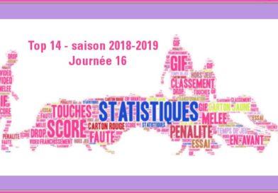 J16 Top 14 2018-2019 – Les statistiques complètes de la journée