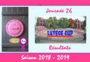 J26 Lutèce Cup 2018-2019 – Résultats