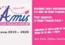 Adhésion aux Amis – saison 2019-2020