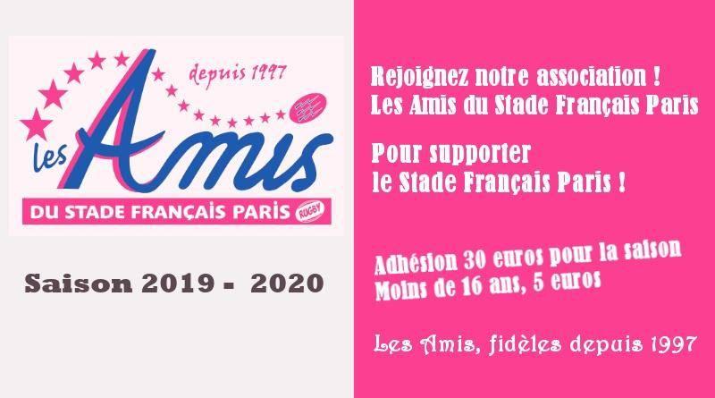 Adhésion aux Amis - saison 2019-2020