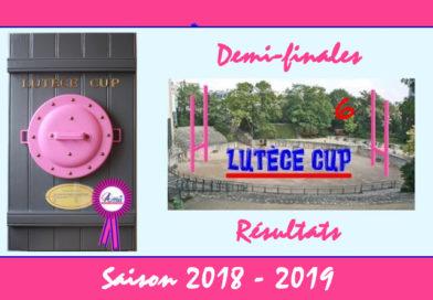 Barrages Lutèce Cup 2018-2019 – Résultats