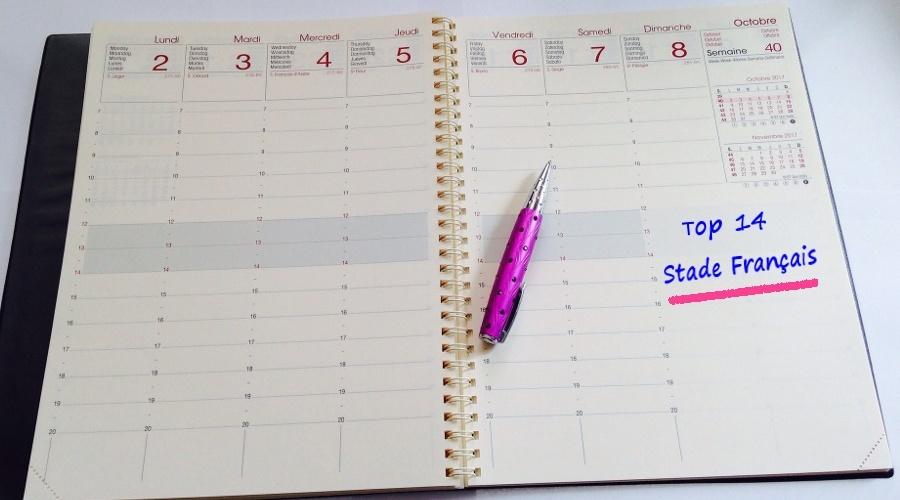 A vos agendas - les horaires des 4 1ères journées connus