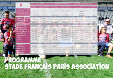 Programme des 16 et 17 novembre – Stade Français Paris Association