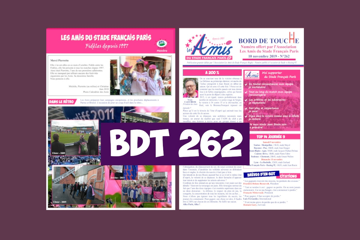 Bord de Touche 262 - Stade / Racing 92