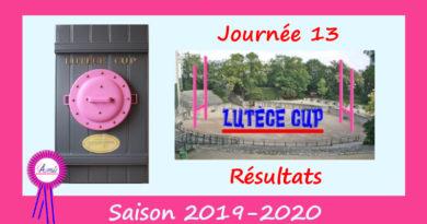 J13 Lutèce Cup 2019-2020 – Résultats