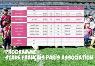 Programme des 18 et 19 janvier – Stade Français Paris Association