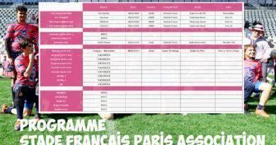 Programme des 8 et 9 février- Stade Français Paris Association