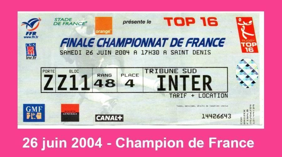 Pascale - Champion de France 2004, 26 juin 2004