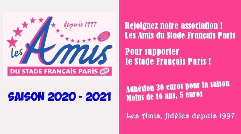 Adhésion aux Amis - saison 2020-2021
