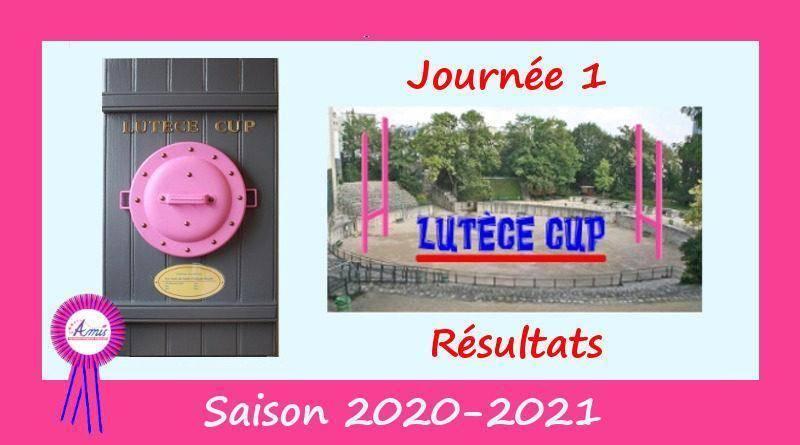 J1 Lutèce Cup 2020-2021 – Résultats