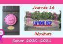 Lutèce Cup – J16, 2020-2021 – Résultats