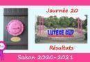 Lutèce Cup – J20, 2020-2021 – Résultats