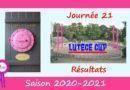 Lutèce Cup – J21, 2020-2021 – Résultats