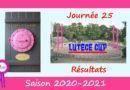 Lutèce Cup – J25, 2020-2021 – Résultats