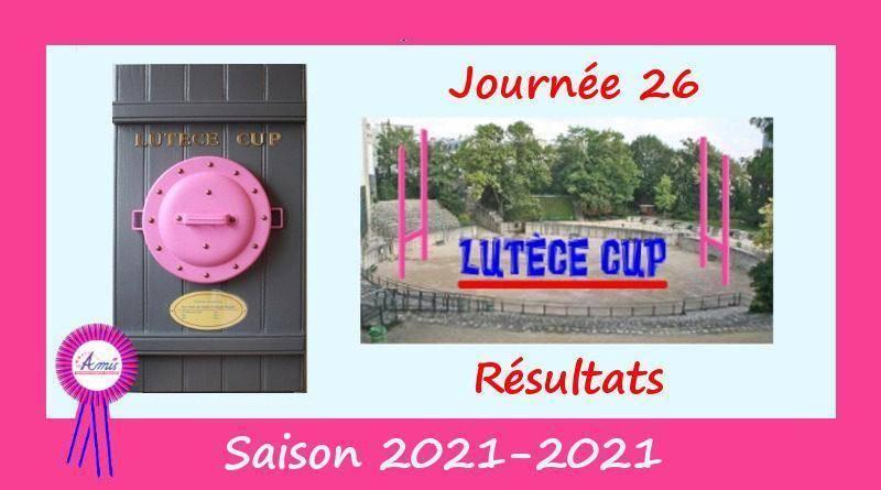 Lutèce Cup – J26, 2020-2021 – Résultats